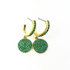 35dab3d0d13a4e KATE SPADE Emerald Green Crystals Drop Earrings